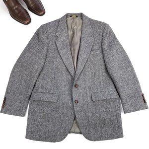 Harris Tweed | EUC Gray 2 Button Wool Blazer 44R
